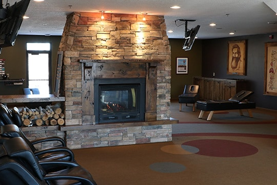 Chiropractic Burnsville MN Fireplace and Chairs